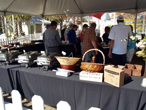 The VIP tenet and buffet table at the Tampa Cigar Fest