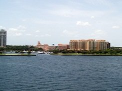 a view of downtown from the pier st pete florida