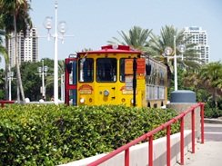 the trolley at the pier st pete florida