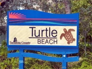 Turtle Beach Sign South Siesta Key