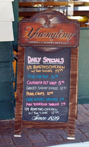Daily Specials at Turtle Beach Grill