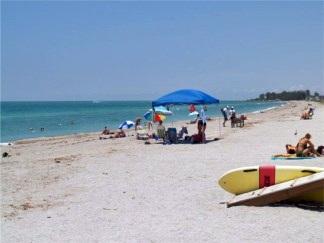 Looking North at Venice Beach Florida