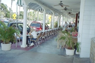 Outdoor cafe in downtown Venice Florida