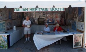 The Venice Italian Feast Heritage Booth