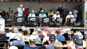 One of numerous bands performing at the Venice Italian Feast in Venice Florida