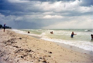 Hurricane Frances off Nokomis Beach on Casey Key Florida